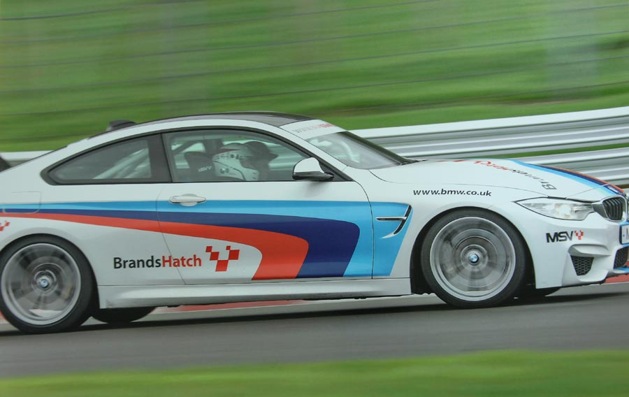 Wil Arif race driver instruction in BMW M4 at Brands Hatch
