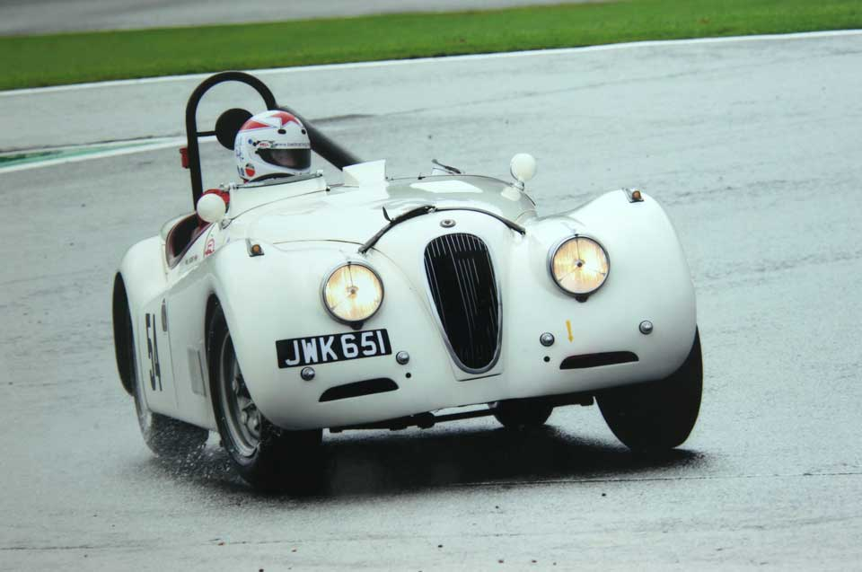 Wil Arif driving a Jaguar XK120 at Spa